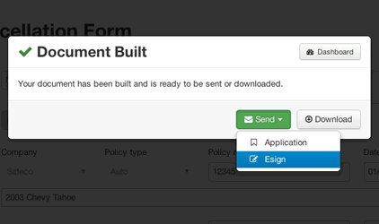 Easily download, print, email, or e-sign generated documents